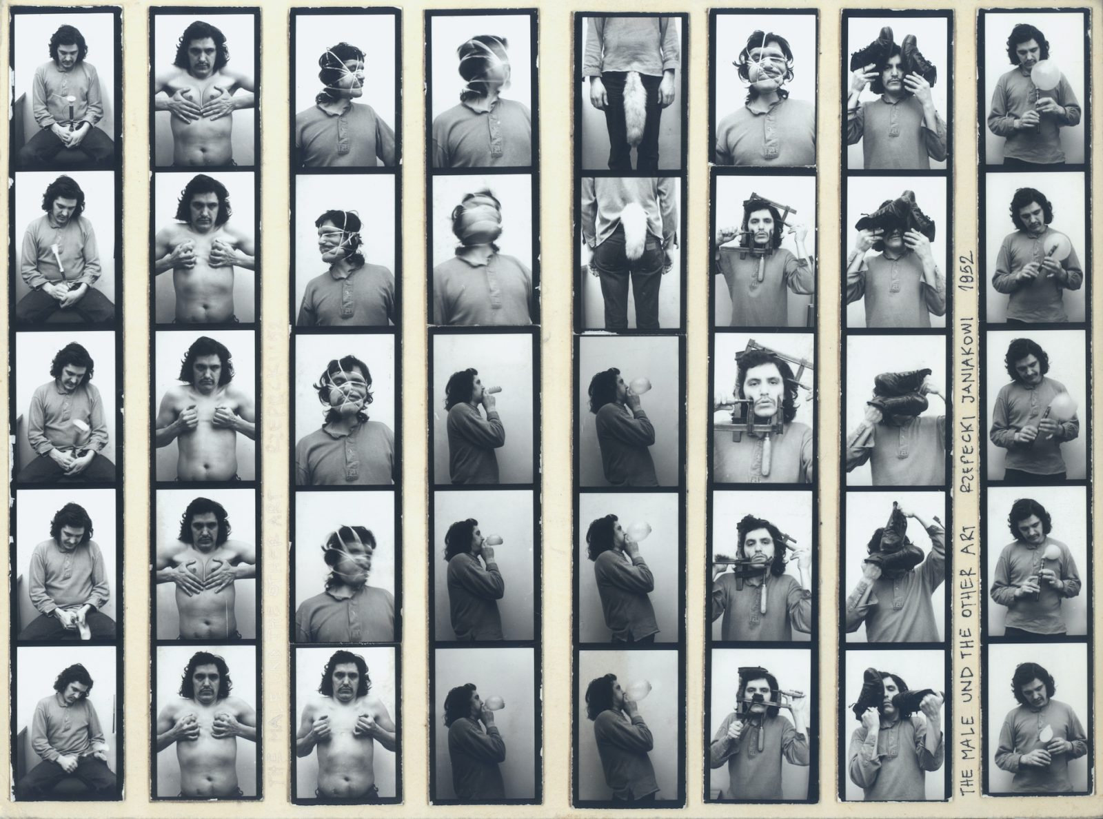 Adam Rzepecki The Male and Other Art 1980 photography on cardboard